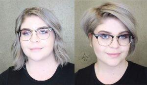 Taglio capelli prima e dopo